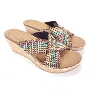 Skechers Beverlee Delighted Sandals Womens Sz 9